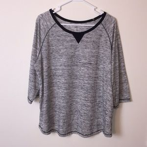 Woman Within gray black top. Size Large 18…